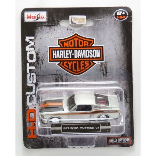 1967 FORD MUSTANG GT HARLEY DAVIDSON COLLECTION 1/64