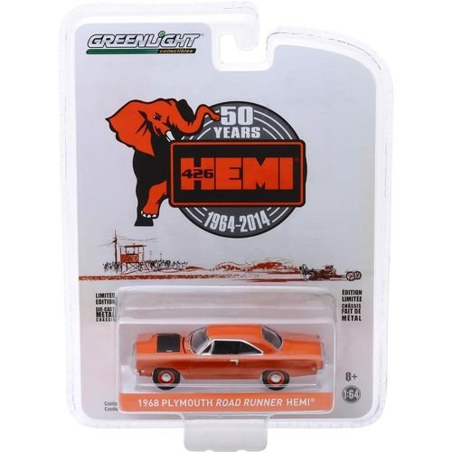 1968 PLYMOUTH ROAD RUNNER HEMI 50 YEARS 1/64