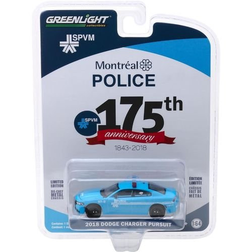 2018 DODGE CHARGER PURSUIT 175TH MONTREAL POLICE 1/64