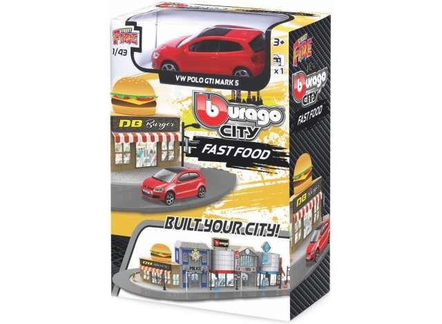 MINIATURA VW POLO GTI MARK 5 FAST FOOD STREET FIRE BURAGO 1/43
