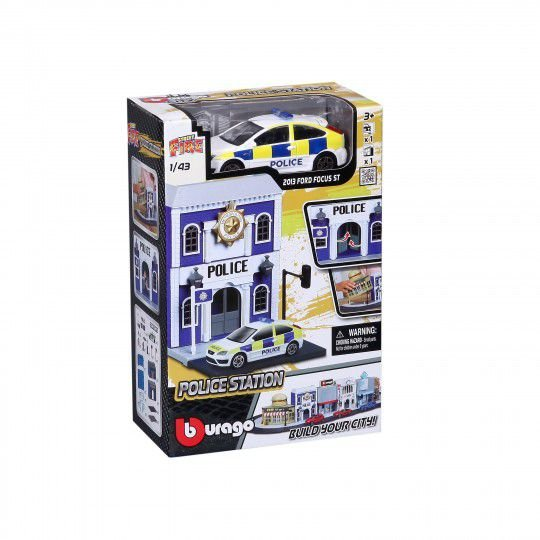 MINIATURA STREET FIRE FORD FOCUS 2013 POLICE STATION BURAGO 1/43