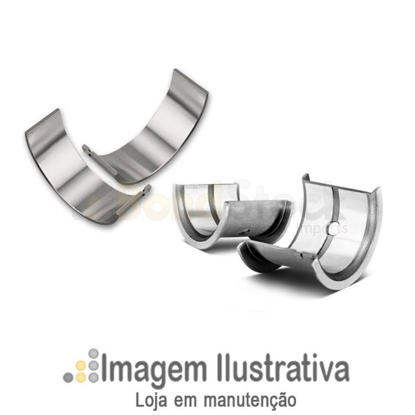 Bronzina Mancal 0,50 Todos Volks Motor Ap 1.6 / 1.8 / 2.0 85/... Água / Gol / Parati 1.0 Motor