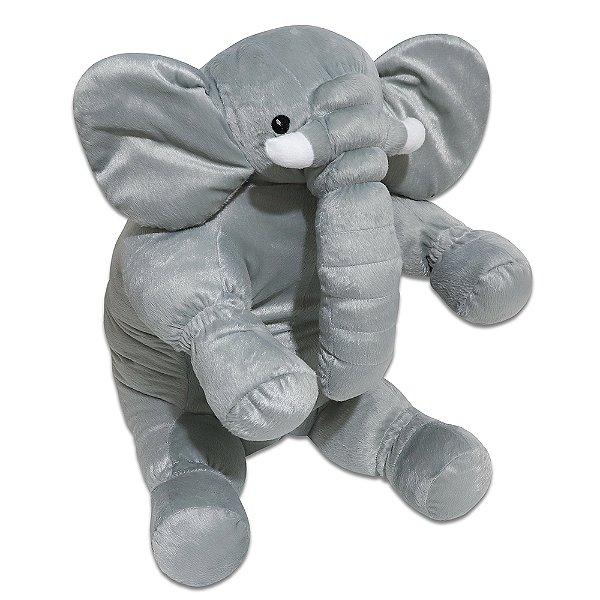 Travesseiro Almofada Elefante Cinza