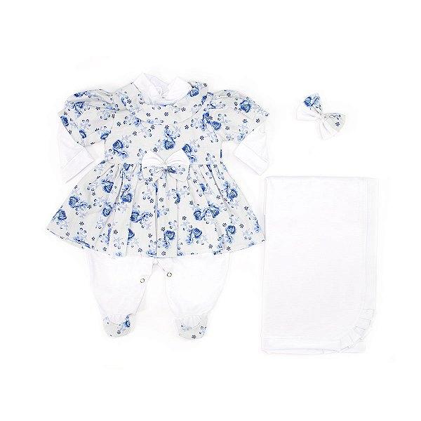 Saída Maternidade Gabi Branca 4 Peças