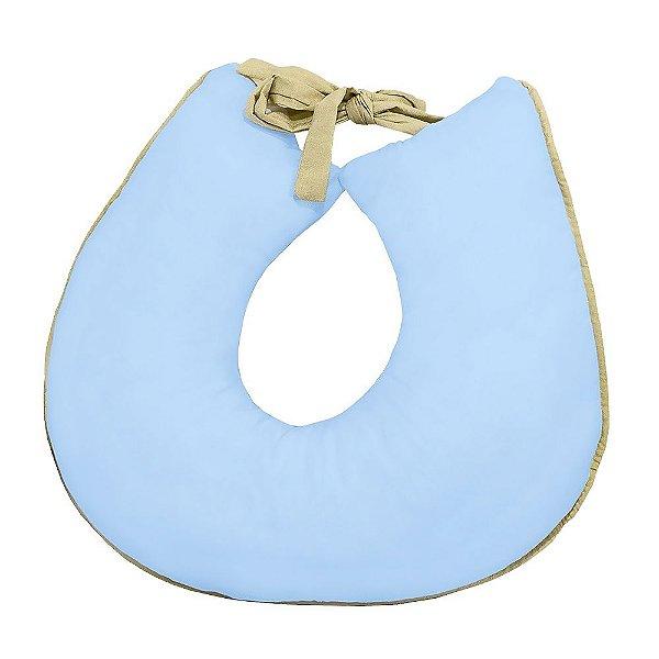 Almofada Amamentação Coroa Luxo Azul Bebê