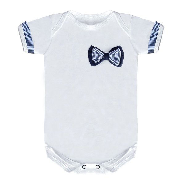Body Para Bebê Laço Marinho