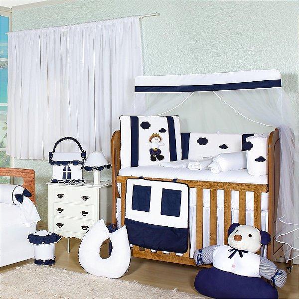 Quarto De Bebê Sem Cama Babá Príncipe Sonhador Marinho