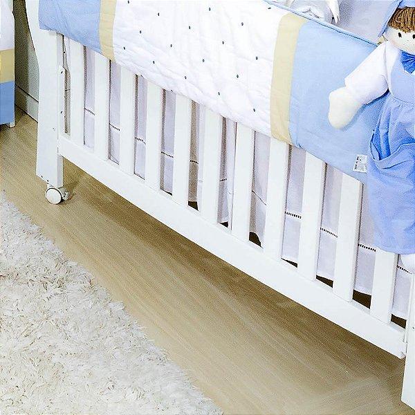 Saia De Berço Coroa Luxo Azul Bebê