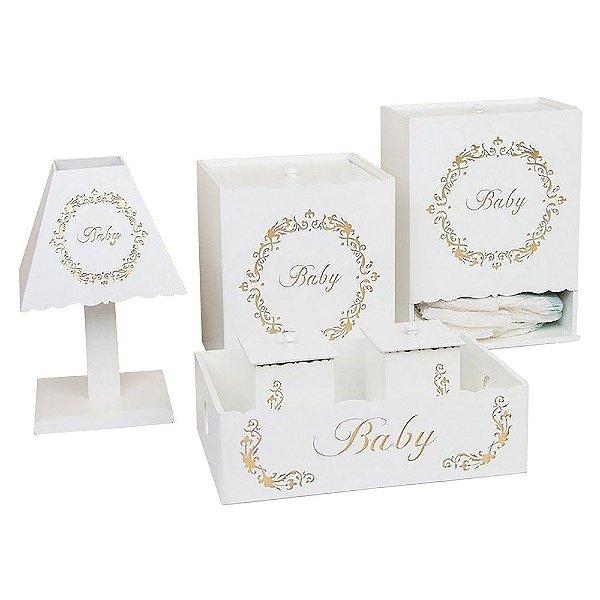 Kit Higiene Baby Gold Mdf
