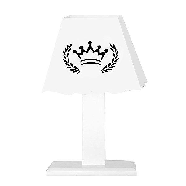 Abajur Coroa Mdf