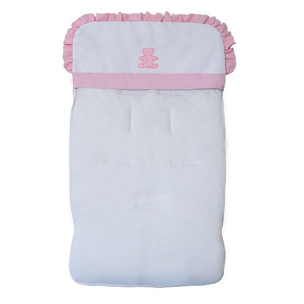Capa Para Carrinho De Bebê Realeza Rosa