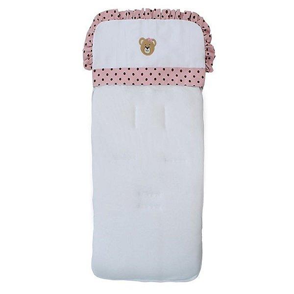 Capa Para Carrinho De Bebê Mimos Rosa