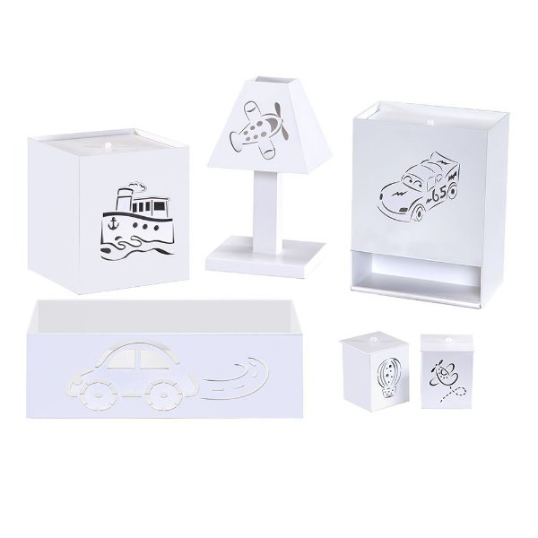KIT HIGIENE TRANSPORTES BRANCO MDF