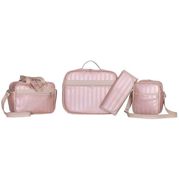 Conjunto de Bolsas Metalizadas Rosa