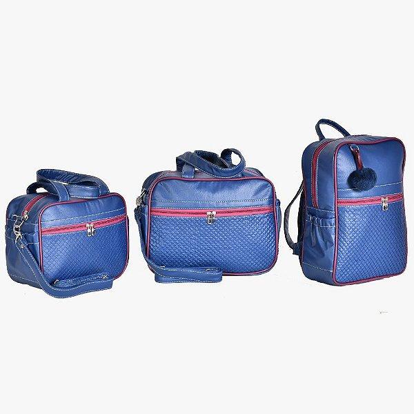 Conjunto de Bolsas Havana Azul Marinho