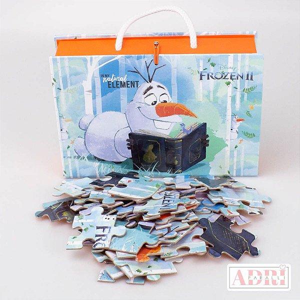 Maleta com Quebra Cabeça de 54 peças - Frozen 2 - Arte 2