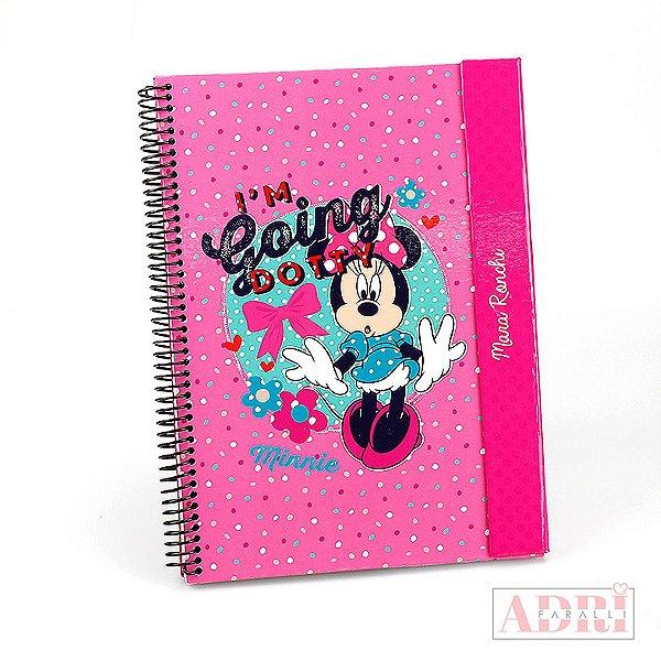 Caderno Universitário Personalizado com Aba - Minnie