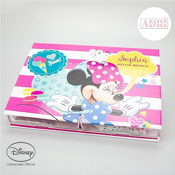Caixa de Papelaria Personalizada - Minnie