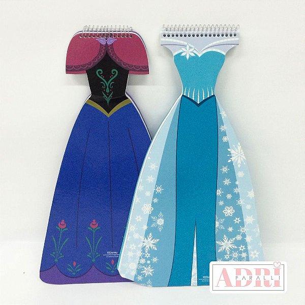 Caderno Grande no Formato de Vestido - Frozen