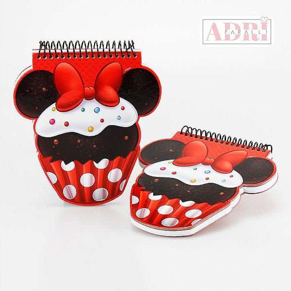 Mini Caderno no Formato da Cupcake - Minnie