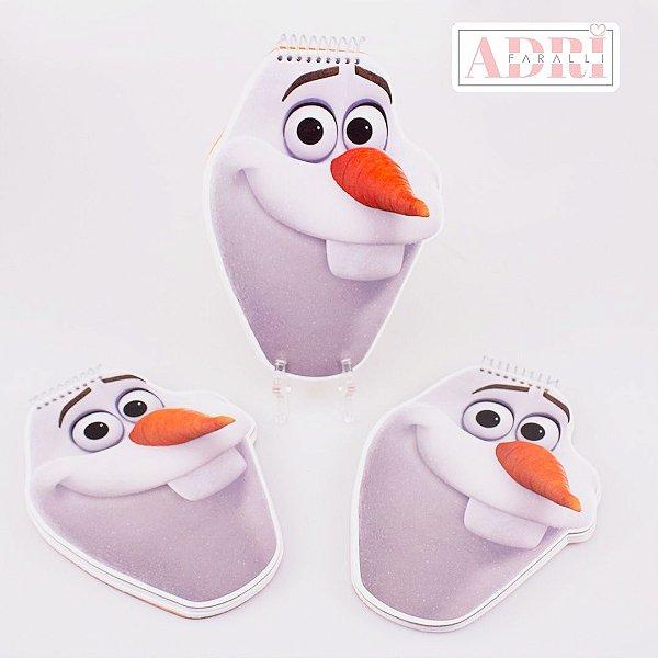 Mini Caderno no Formato Olaf - Frozen