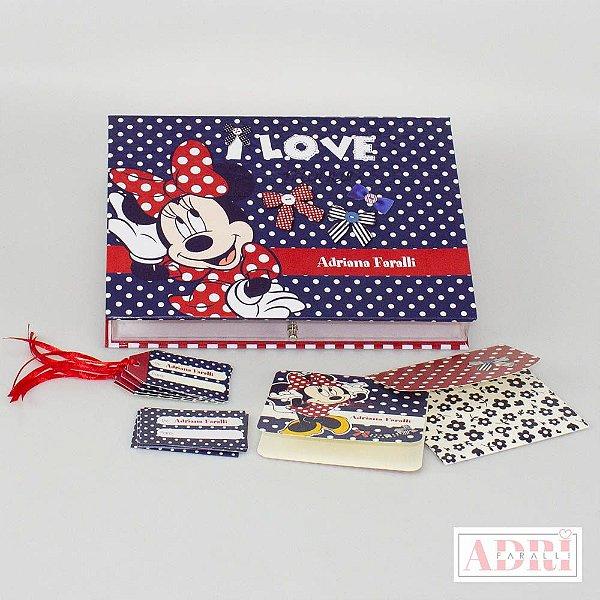 Caixa de Papelaria Personalizada 9 - Minnie