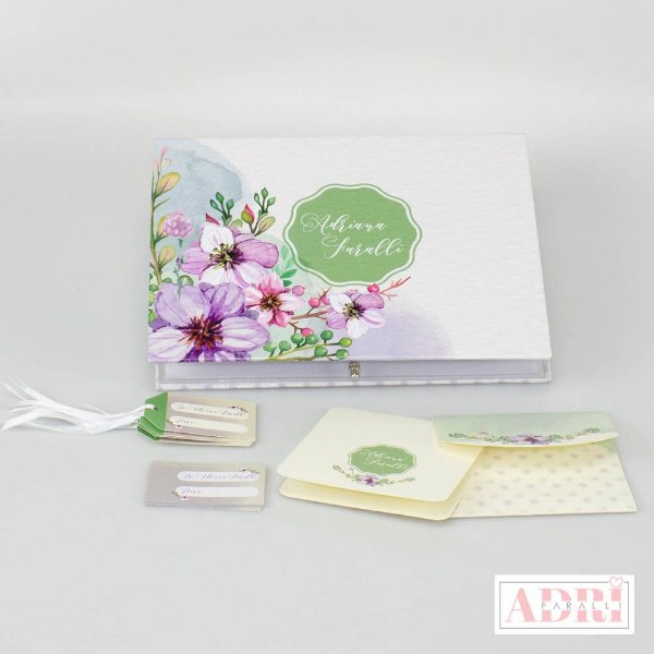 Caixa de Papelaria Personalizada 2 - Floral