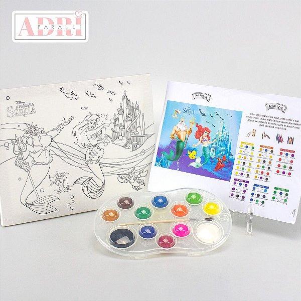 Kit de Pintura com Tela Riscada - Ariel