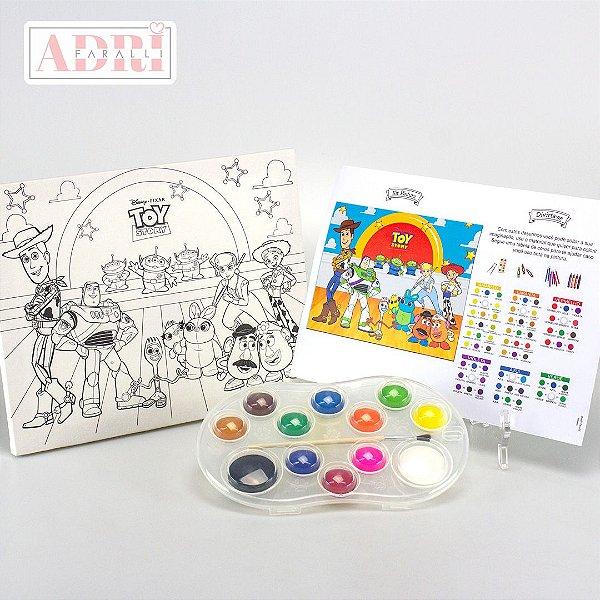 Kit de Pintura com Tela Riscada - Toy Story 4