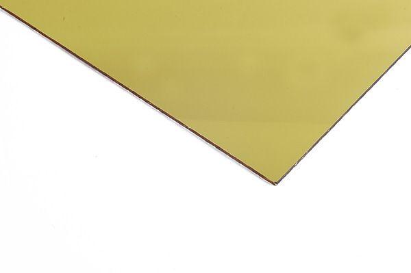 Chapa de Acrilico  Dourado