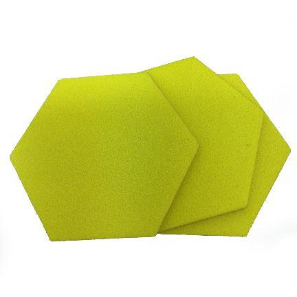EVA Liso Amarelo 1,6mm - Placa retangular 40x30cm 5 unidades