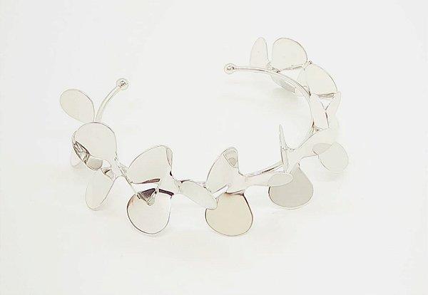 Bracelete Flor Ródio