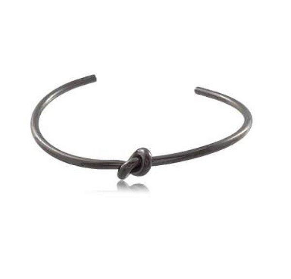Bracelete fino em Ródio Negro