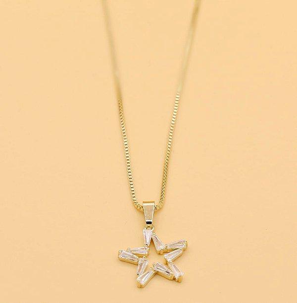 Gargantilha Estrela de Zircônias