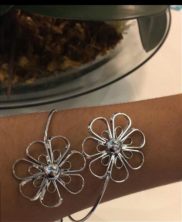 Bracelete Ródio Flores