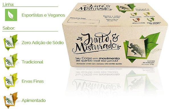 Esportistas e Veganos - Caixa com 30 misturinhas de saúde - Sabores variados - 270g