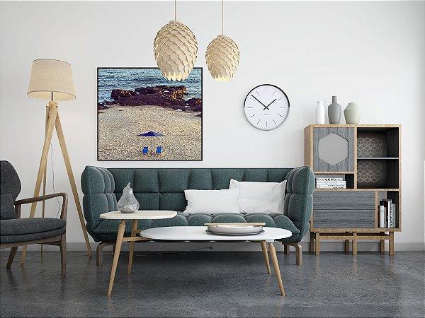 Praia com Cadeiras Azuis • ©Holanda Cavalcanti