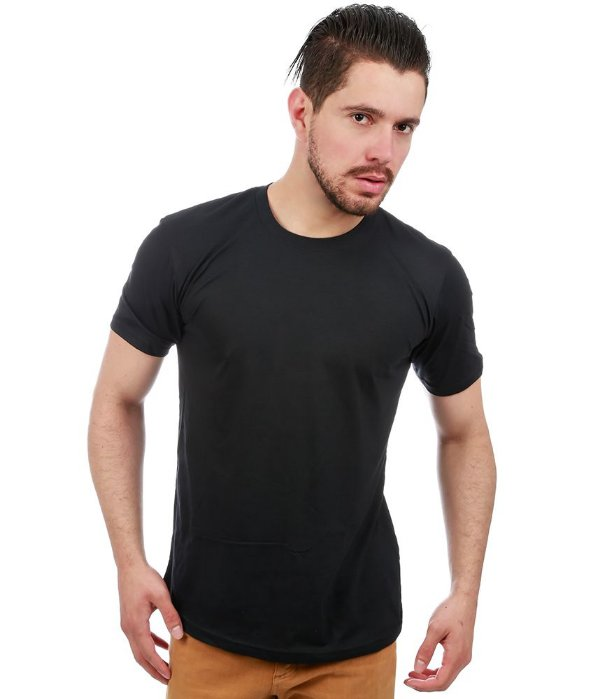 Camiseta Básica Masculina Preta Lisa 100% Algodão P/M/G/GG/XG