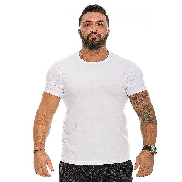 Camiseta Básica Branca Masculina Lisa 100% Algodão P/M/G/GG/XG
