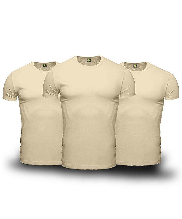 Kit 03 Camisetas Básicas Beges