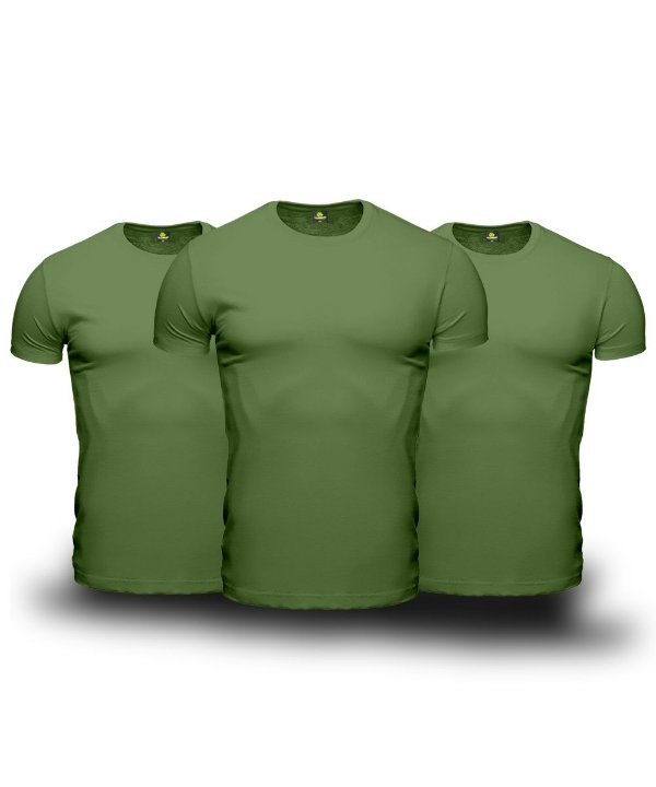 Kit 03 Camisetas Básicas Verdes