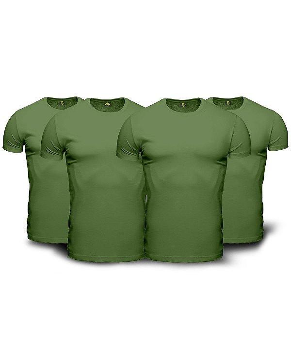 Kit 04 Camisetas Básicas Verdes