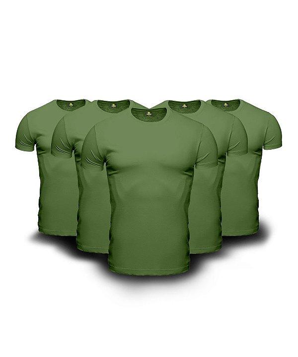 Kit 05 Camisetas Básicas Verdes
