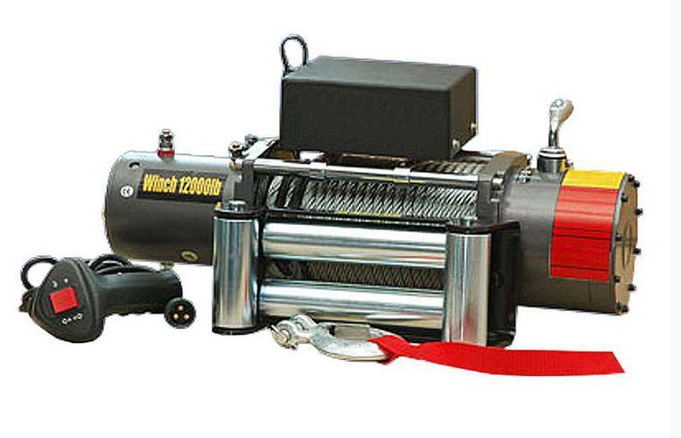 Guincho elétrico 12000LBS com cabo de aço e controle remoto por cabo