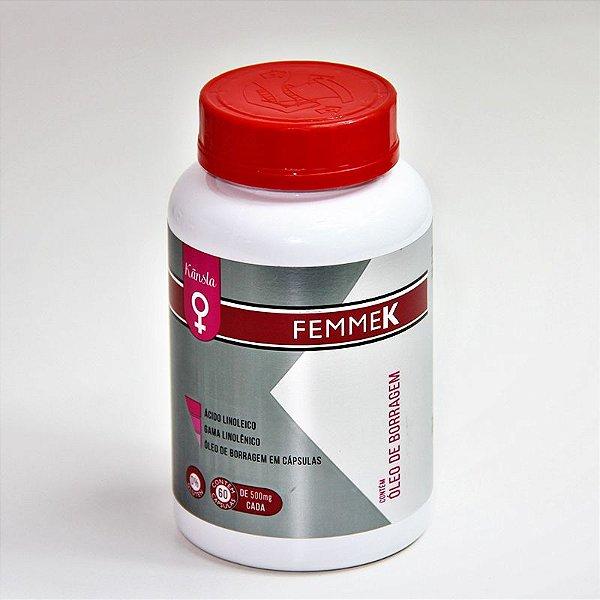 FemmeK: Óleo de Borragem 60 cápsulas - 500mg