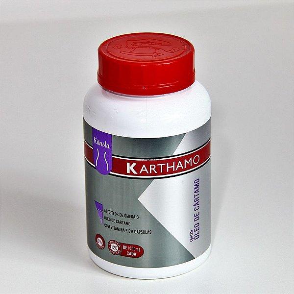 Ôleo de Cártamo(L.A) + Vitamina E - 1g - KARTHAMO -120 cápsulas - KANSLA