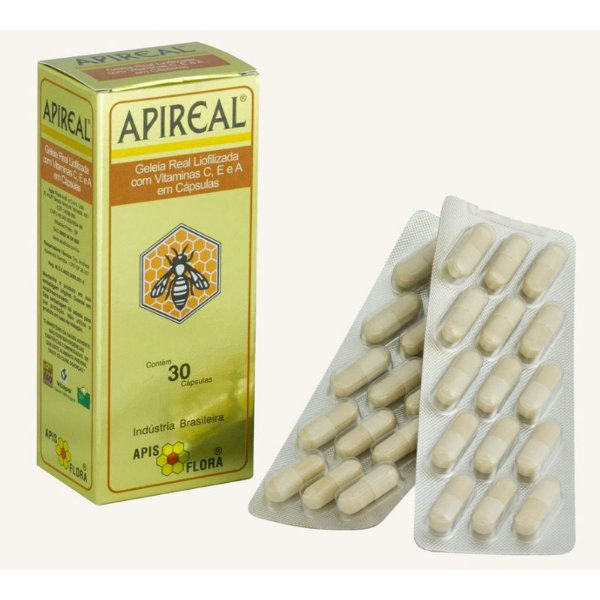 Apireal - Geleia Real Natural Liofilizada 30 cápsulas
