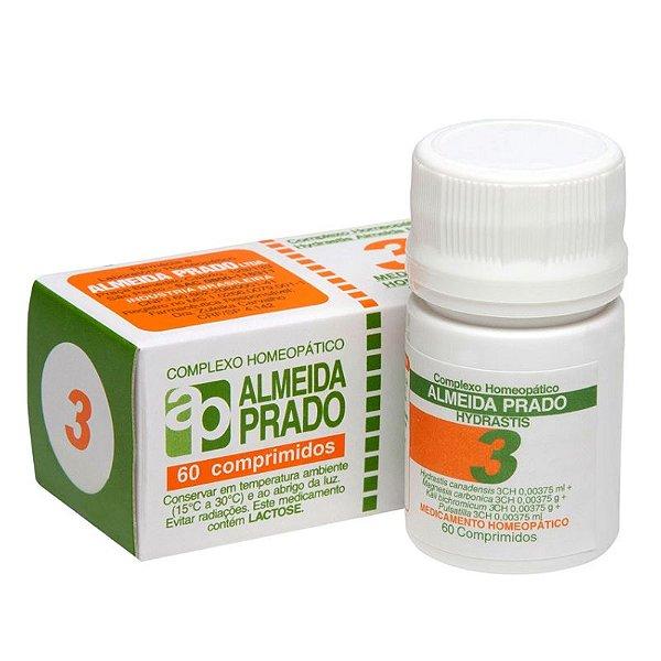 Complexo Homeopático Hydrastis Almeida Prado nº 3 - 60 comprimidos