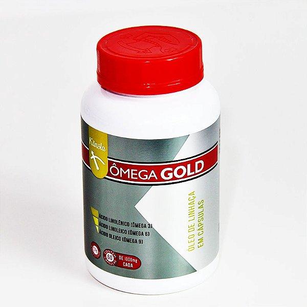 Ômega Gold - Óleo de linhaça 1g - 60 cápsulas