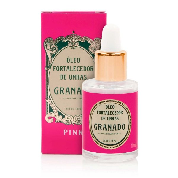 Óleo fortalecedor de unhas Pink 10ml Granado